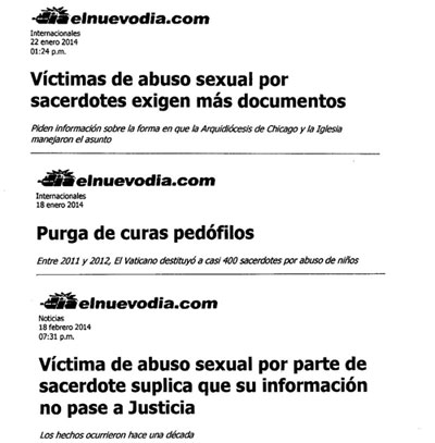 Afecciones del abuso sexual del clero